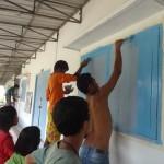 A Koh Kong, après le ponçage, la peinture.