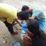 Koh Kong: préparation de la peinture