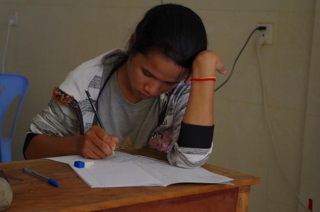 Srey Pich, toujours studieuse