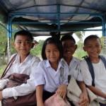 Le retour de l'école des enfants